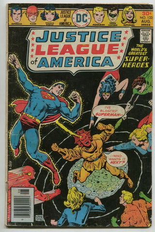 Justice League Of America 133 DC 1976 VG Ernie Chan Flash Batman Superman