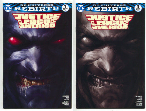 Justice League Of America 1 DC Rebirth Francesco Mattina Color BW Variant Lobo