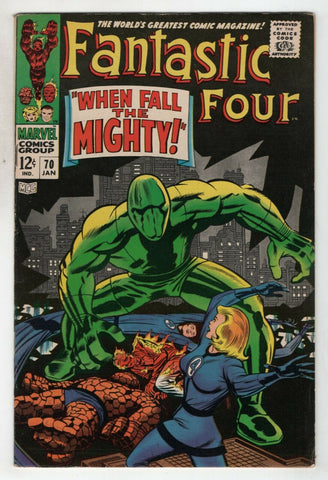 Fantastic Four 70 Marvel 1968 VF Jack Kirby Stan Lee Mad Thinker