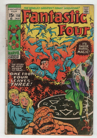 Fantastic Four 110 Marvel 1971 VG Stan Lee John Buscema Annihilus