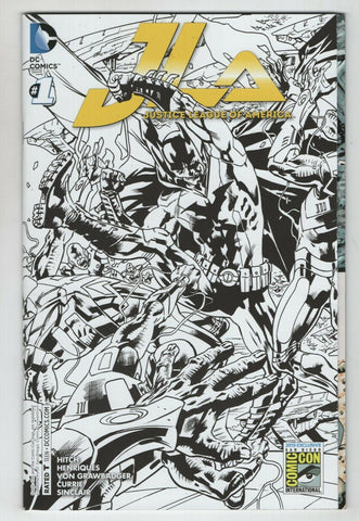 Justice League America 1 DC 2015 NM SDCC Bryan Hitch Gatefold JLA Variant