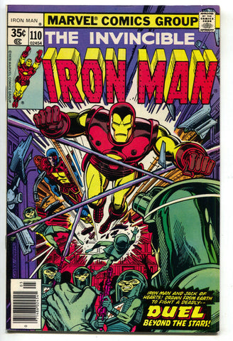 Invincible Iron Man 110 1978 VF Crimson Dynamo Ms. Marvel Thor Defenders Ad