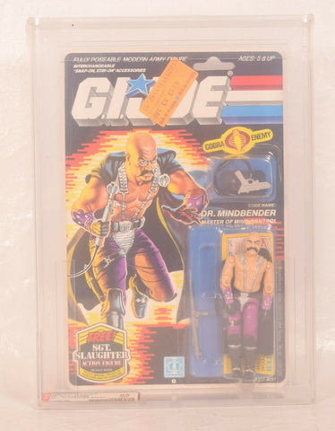 GI Joe ARAH Dr Mindbender Cobra Action Figure Hasbro 1986 AFA 85