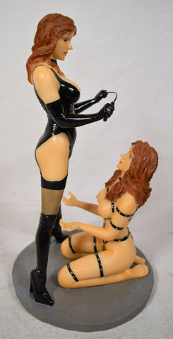 Fetish Girl Statue Magic Bondage Latex BDSM Whip Lingerie