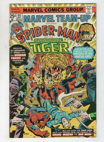 Marvel Team-Up 40 1975 FN Spider-Man Sons Of The Tiger Human Torch