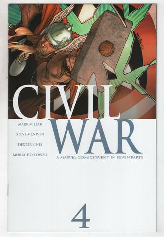 Civil War 4 A Marvel 2006 NM+ 9.6 Captain America Spider-Man Avengers