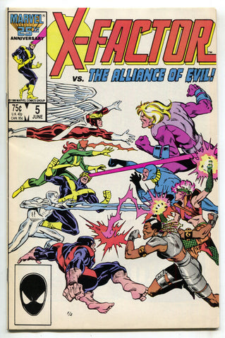 X-Factor 5 1st Series Marvel 1986 VF 1st Apocalypse Cameo X-Men