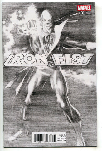 Iron Fist 1 Marvel 2017 NM 9.6 1:100 Alex Ross Sketch Variant Defenders Netflix