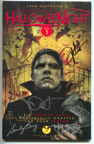 John Carpenters Tales For A Halloween Night 1 GN NM/MT 9.8 Signed 8x Steve Niles