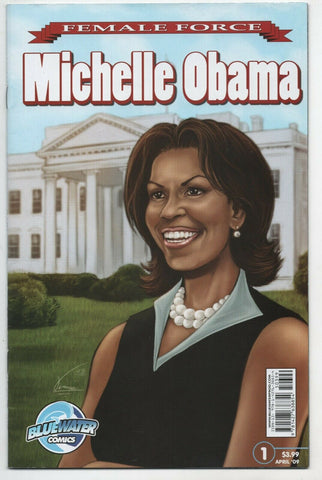 Female Force Michelle Obama 1 Blue Water 2009 NM President Barack Biography