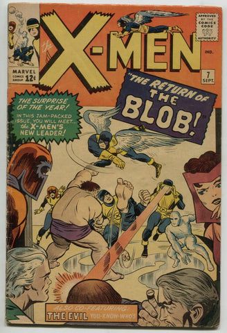Uncanny X-Men 7 1st Series Marvel 1964 VG FN Scarlet Witch Magneto 1st Cerebro