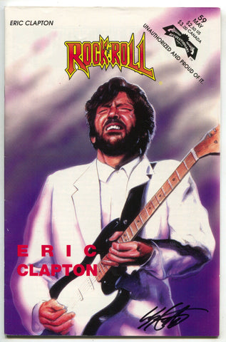Rock N Roll Comics 59 Revolutionary 1993 VF Eric Clapton Signed Steve Crompton