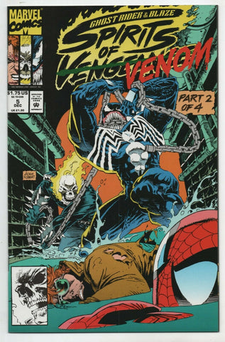 Ghost Rider Spirits Of Vengeance 5 Marvel 1992 NM Venom Spider-Man