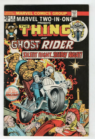 Marvel Two In One 8 1975 FN VF Thing Ghost Rider Fantastic Four Christmas