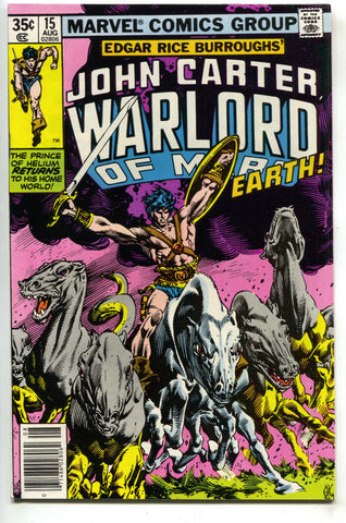 John Carter Warlord Of Mars 15 Marvel 1978 NM- Dejah Thoris Gil Kane