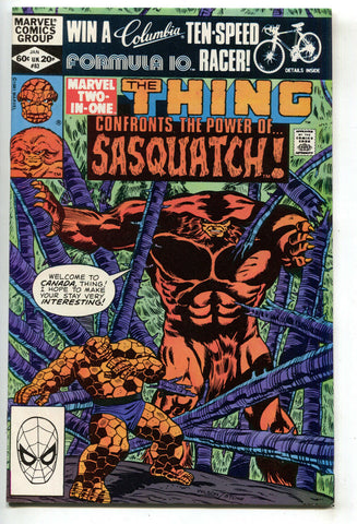 Marvel Two-In-One 83 1982 VF NM Thing Sasquatch Shaman Fantastic Four Giant Man
