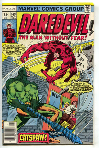 Daredevil 149 Marvel 1977 VF Smasher Broadway The Deep Poster Theatre