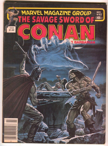 Savage Sword of Conan 82 Marvel 1982 VG FN Red Sonja 24 Bob Larkin
