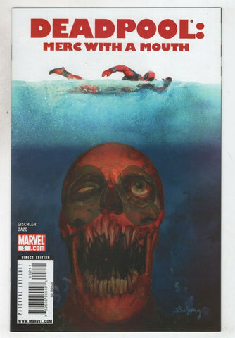Deadpool Merc With A Mouth 2 A Marvel 2009 NM Arthur Suydam Jaws Homage