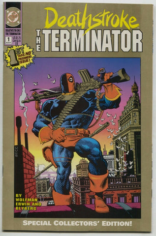 Deathstroke The Terminator 1 DC 1991 NM- 2nd Print Gold Mike Zeck Variant