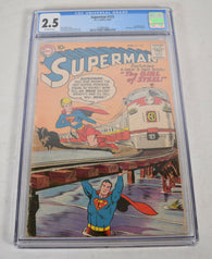 Superman 123 DC 1958 CGC 2.5 Supergirl Try Outs
