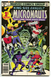 Micronauts King Size Annual 1 Marvel 1979 VF Steve Ditko Bill Mantlo
