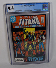 Tales Of The Teen Titans 44 DC 1984 CGC 9.4 1st Nightwing Deathstroke