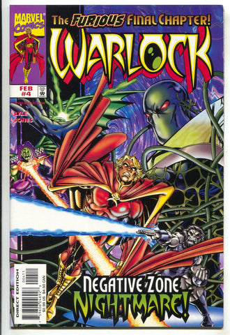 Warlock 4 Marvel 1999 NM- Limited Series Gamora Annihilus Soul Gem GOTG