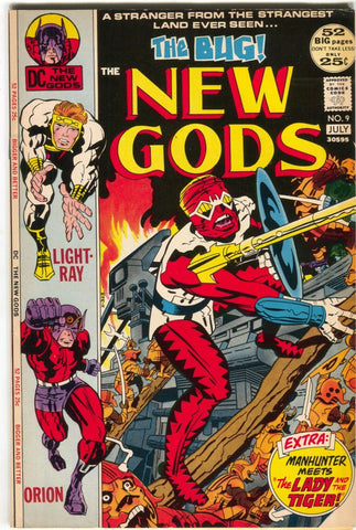 New Gods 9 DC 1972 VF NM Jack Kirby Orion 1st Forager
