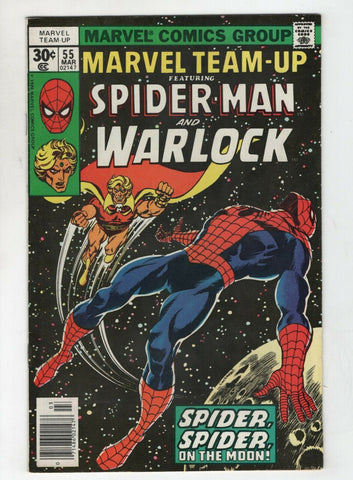 Marvel Team-Up 55 1977 VF Spider-Man Warlock 1st Power Time Gem Gardner
