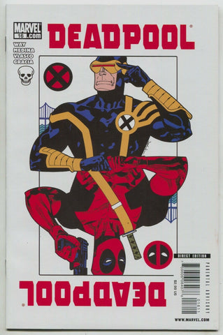 Deadpool 16 B 2nd Series Marvel 2009 NM Jason Pearson Variant Playing Card