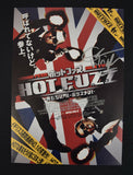 Hot Fuzz Edgar Wright Ed Signed Autograph Japanese Mini Movie Poster Simon Pegg