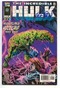 Incredible Hulk 452 Marvel 1997 VF Signed Peter David