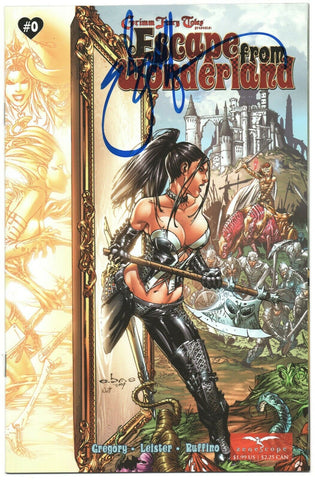 Grimm Fairy Tales Escape From Wonderland 0 Zenescope VF Signed Eric Basaldua Eba