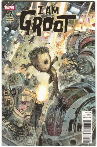 I Am Groot 2 B Marvel 2017 NM 1:25 Niko Henrichon Variant Guardians Of The Galax
