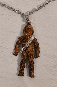 Star Wars Chewbacca Figure Necklace Pendant Chain Factors 1977 New Articulated