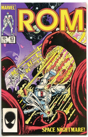 Rom Spaceknight 63 Marvel 1985 NM- Bill Mantlo Steve Ditko