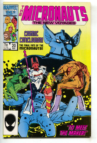 Micronauts New Voyages 20 Marvel 1986 NM- Bill Sienkiewicz Final Issue