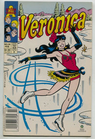 Veronica 26 Archie 1993 NM- Ice Figure Skating Bikini Dress Dollar Sign Newsstan