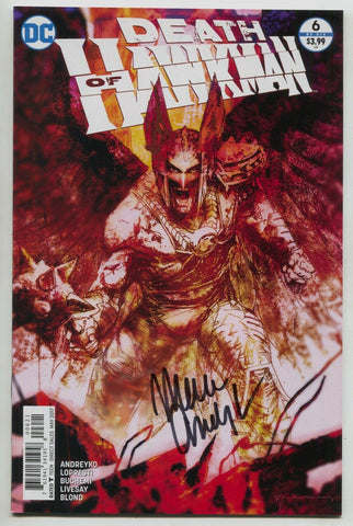 Death Of Hawkman 6 B DC 2017 NM- Signed Marc Andreyko