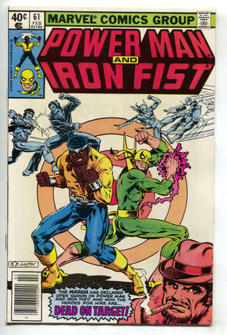 Power Man And Iron Fist 61 Marvel 1980 NM Luke Cage Heroes For Hire Bob Layton