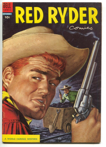 Red Ryder Comics 134 Dell 1954 VF Cowboy Western Shootout Coal Mine Cart