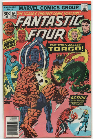 Fantastic Four 174 Marvel 1976 VF Jack Kirby Galactus