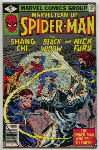 Marvel Team-Up 85 1979 VF Spider-Man Master Of Kung Fu Black Widow Nick Fury
