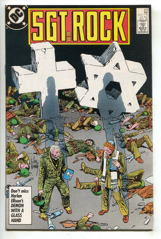 Sgt Rock 413 DC 1986 VF Joe Kubert Religion Jewish Star Of David Cross WWII War