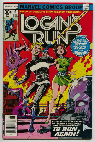 Logans Run 6 Marvel 1977 VF NM Thanos Drax Paul Gulacy