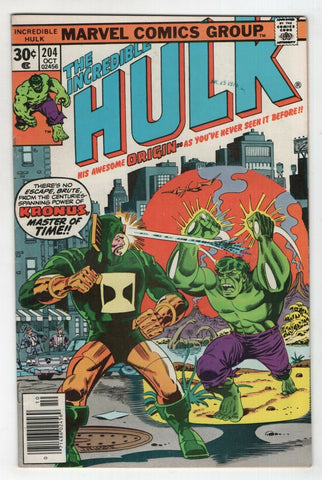 Incredible Hulk 204 Marvel 1976 FN VF Herb Trimpe Len Wein Origin