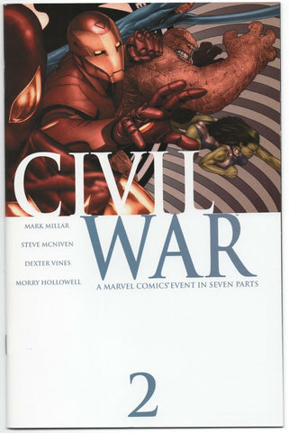 Civil War 2 A Marvel 2006 NM Mark Millar Spider-Man Iron Man