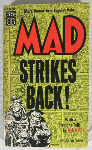 Mad Strikes 1 Paperback Book Ballantine Wiliam Gaines Magazine 5th Print 1958