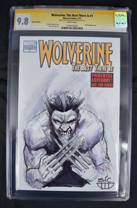 Wolverine Best There Is 1 Marvel NM CCG SS 9.8 David Flores Sketch Signed Blank